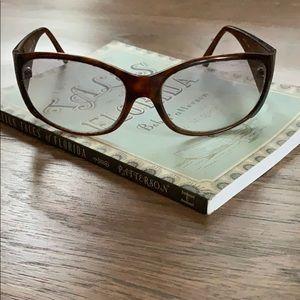 Prada Tortoise and Silver Sunglasses